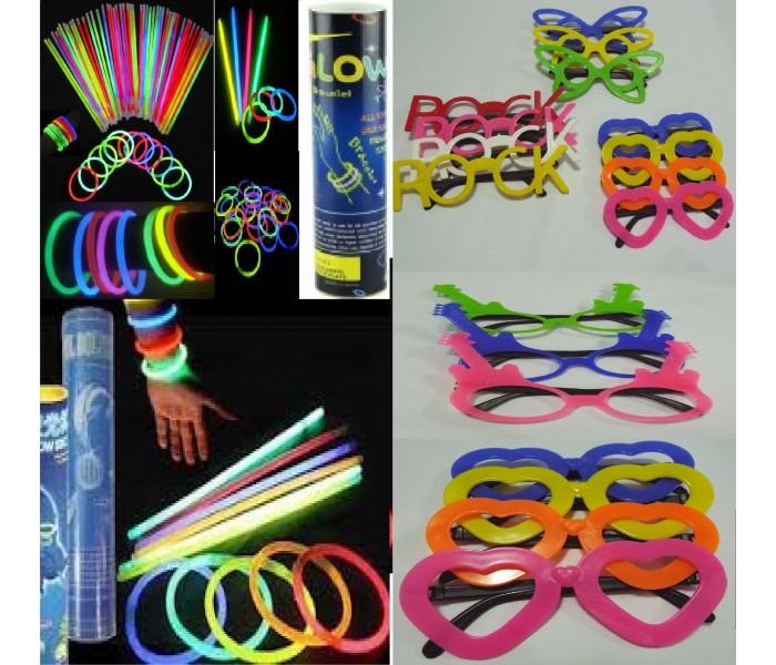 b7c85a732 Kit Festas - 200 Pulseira Neon E 70 Óculos Balada